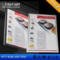 Edgelight AF17 menu board aluminum frame window led light pockets Factory direct advertising poster