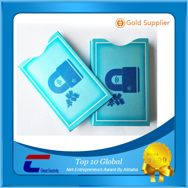 CR-80 aluminum foil rfid blocking card sleeve for Credit Card