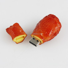 2017 Hot sale 100% Real Capacity logo printing mini Chicken legs shape usb 4.0 flash drive for promotional gift