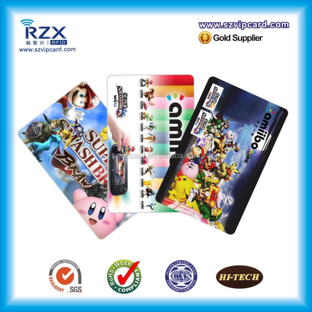 Glossy ISO standard amiibo game programmable rfid NFC card with NTG125