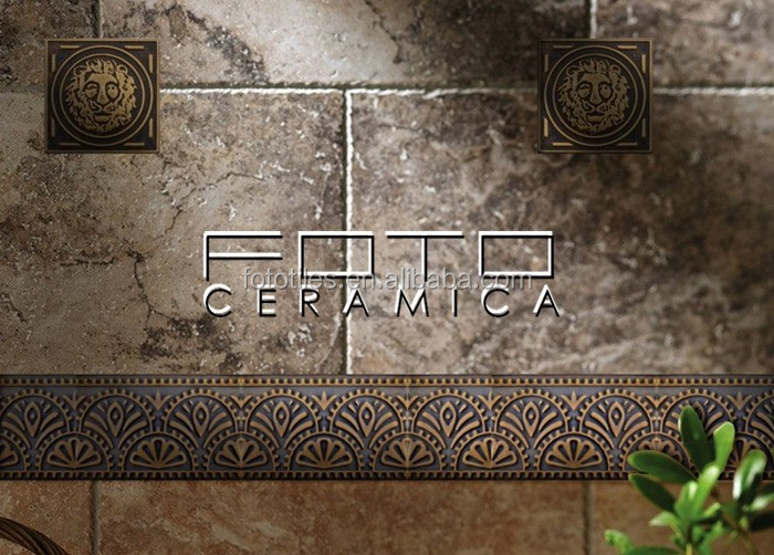 Square Shaped Mosaic Tiles Bronze Metal Bronze Metal Wall
