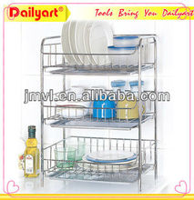 New stainless steel kitchen cabinet plate rack