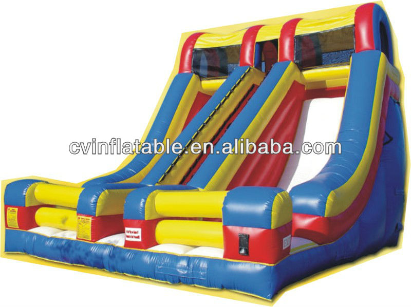inflatable toboggan slide,giant inflatable pool slide for adult