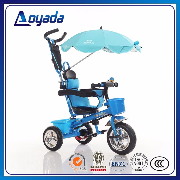 2017 Cheap Push Along Baby Bike , High Quanlity Tricycles with Sunshade