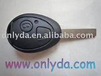 mini cooper 2 button remote key without logo,key blank,lock key