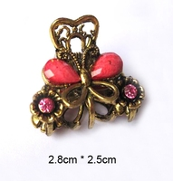 Fashion Lady Alloy Hair Accessories Butterfly Flower Hair Jewelry Crystal Metal Hair Claw