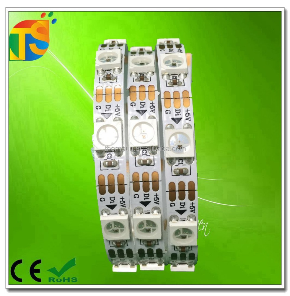 5mm width addressable 60led/m ws2812b ic led strip light rgb 5v