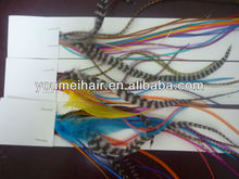 factory bottom price real feather extensions/hair feathers/feather hair