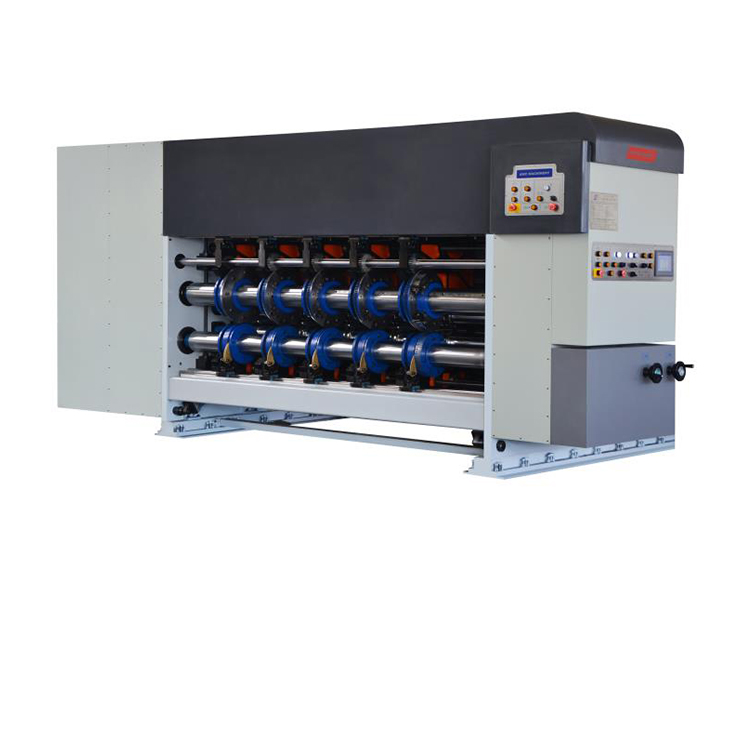 High precision Steel pallet and covered with plastic film Flexo Printer Slotter Die-cutter with Folder Gluer inline