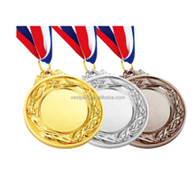 High Quality Customized Medal With Plated Gold And Ribbon