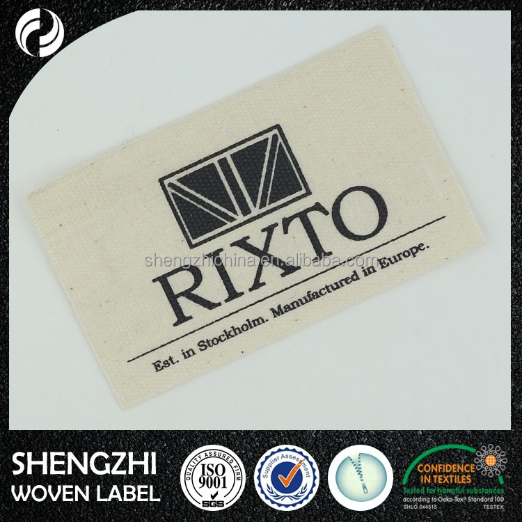 2016 Factory Direct Woven Labels Clothing Printed Label For Clothing Labels