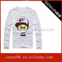 2014 men tight fit long sleeve custom printing T-shirt