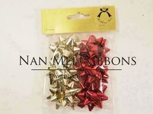1.5 inches dia. Metallic Ribbon Gift Wrapping Decoration Star Bow