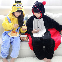 best selling skeleton onesie for kids plush heated onesie full body animal pajamas QWAO-8303