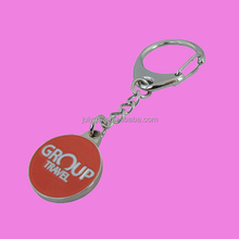 personalized trolley token coin keyring