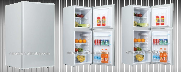 Double door home use up freezer bottom fridge refrigerator