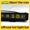 single row 260w cree offroad led light bar ip68 6500k