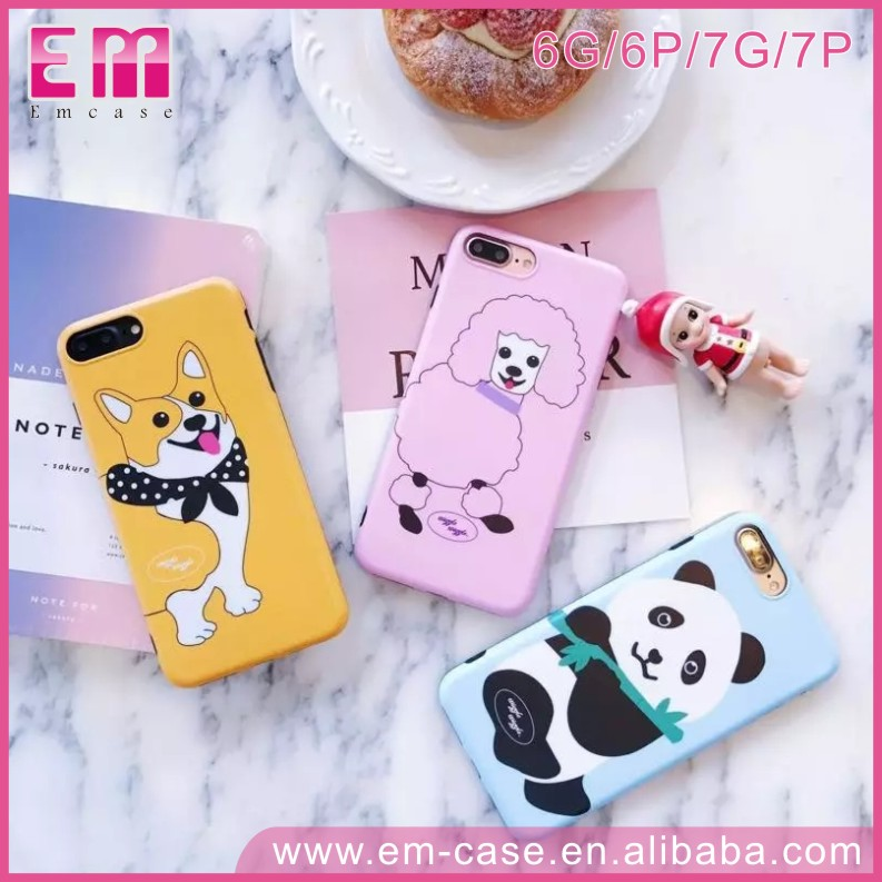 Funky Cute Animal Cat Panda Sheep Soft TPU IMD Painting Mobile Phone Case For iPhone 6 6plus 7 7plus