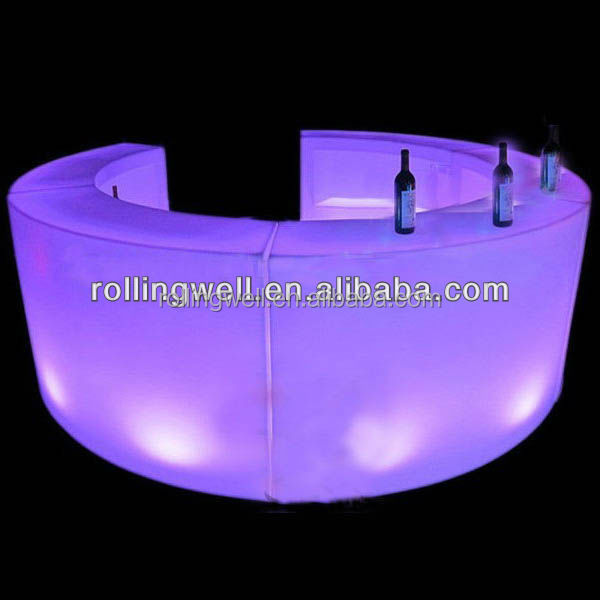 Modern Fashion design colorful plastic LED bar counter for Bar/pub/club/ garden