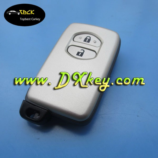 HOT SALE car alarm remote case for toyota key 2 button with emergency key toyota remote key