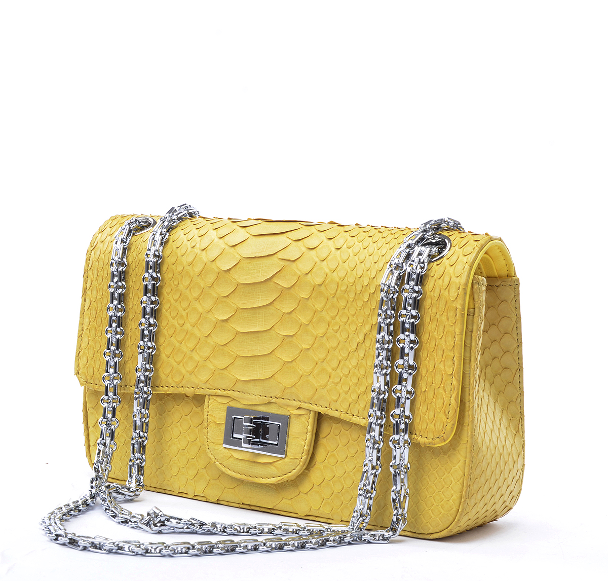 Real Python SKin Leather Channel Women Handbag