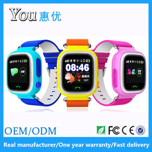 1.22 inch touch screen multi location sos pedometer smart q90 kids gps watch phone