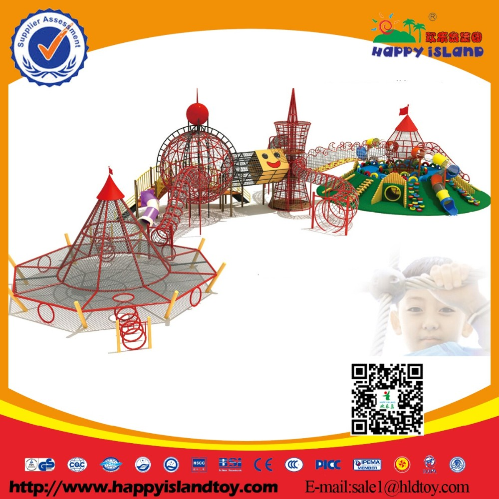 Hot Commercial Plastic Outdoor Playground Equipment For Children
