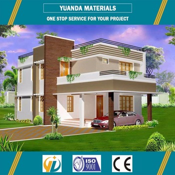 China Luxury Low Cost Light Steel Frame Prefab House