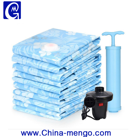 Vacuum Bag Bag Type and Zipper Top Sealing & Handle Cube Vacuum Seal Storage Bags