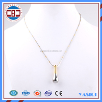2016 latest design jewelry 14K gold fashion long chain necklace women