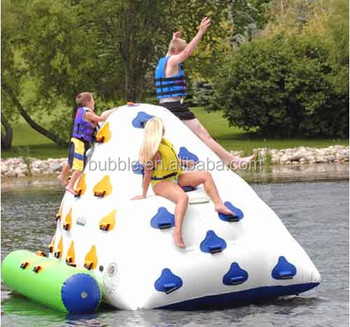 2018 popular water games Floating inflatable Water Iceberg