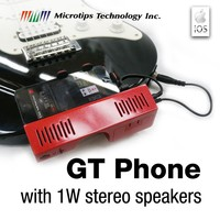 GT Phone - Phone holder for Guitar with 1W stereo speakers and APP audio interface