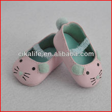 18 inch doll ballet shoes with mouse pattern