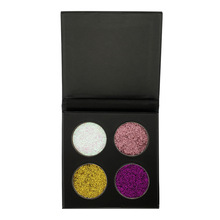 New style oem custom eyeshadow palette 4colors pigment eyeshadow with cardboard packaging