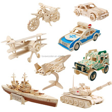 kids eductaional wooden 3D Puzzle(Vehicle series)