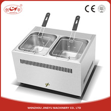 Chuangyu Alibaba Express China Supply 2 Pcs Basket Snack Machine Industrial Gas Deep Fryer