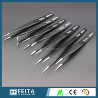 Cheap Price ali baba .com high precision ESD eyelash extension tweezers eyebrow steel tweezers in different models