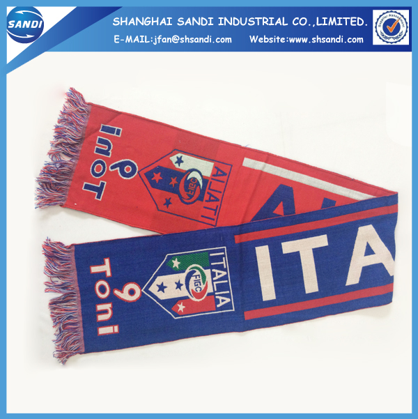 Promotional custom design acrylic woven scarf