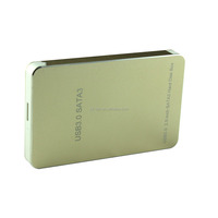 "Aluminium 2.5"" USB 3.0 SATA3.0 HDD Hard Drive Disk External Case Enclosure Up to 6Gbps Support UASP"
