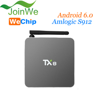 Joinwe New coming model TX8 Amlogic s912 2GB/32GB android 6.0 Octa core smart android tv box