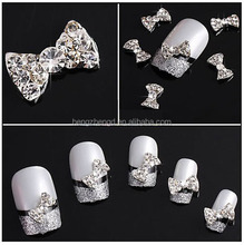 Factory direct hot sale rhinestone bow 3D nail charm