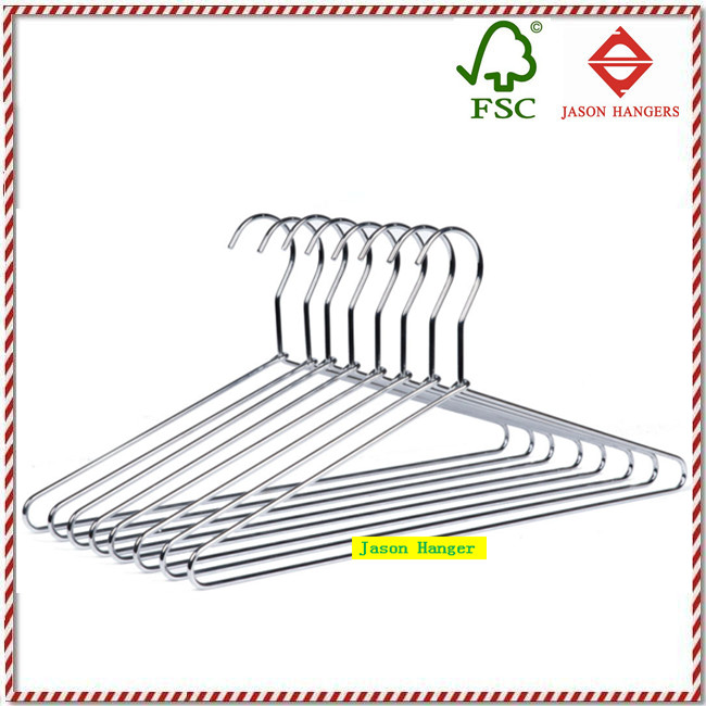 MH009 Chrome wire clothes hanger metal
