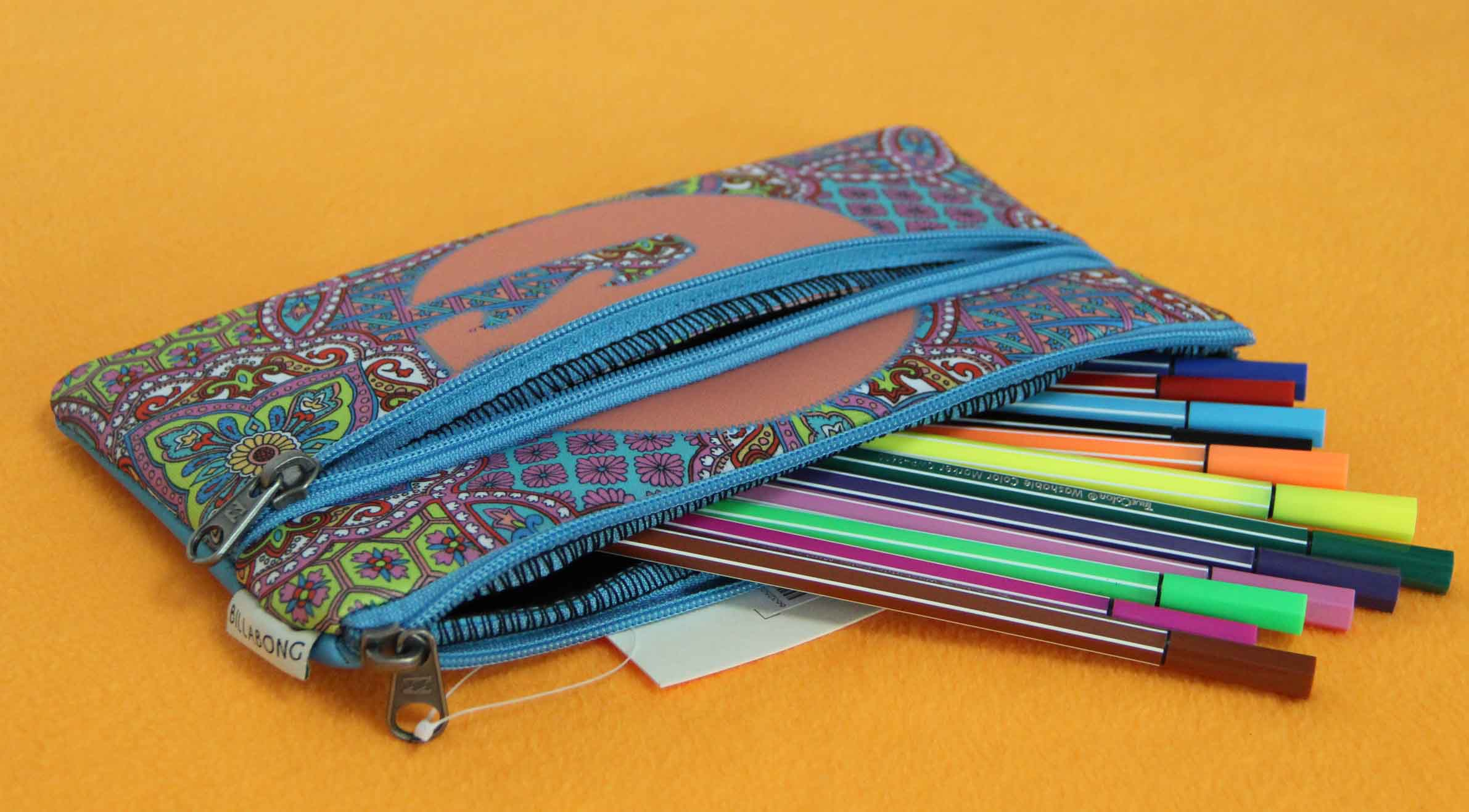 2014 custom wholesale high quality promotional classic insulated pencil case