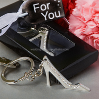 Sparkling High Heel Shoe Key Chain