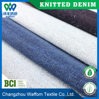 heavy cotton / spandex terry knit denim fabric for jeans