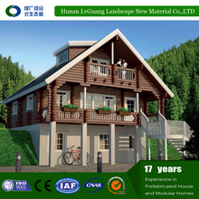 waterproof log cabins prefab house/container homes prefabricated luxury villa