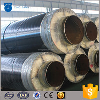 underground 10inch insulated pipe with steel jacket and aluminum foil for steam pipeline system