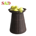 Factory wholesale plastic woven diy vegetable stand with good quality