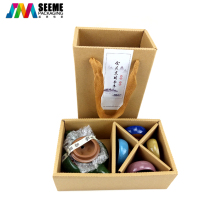 Eco friendly Recycled Natural Tea Set Kraft Paper Box