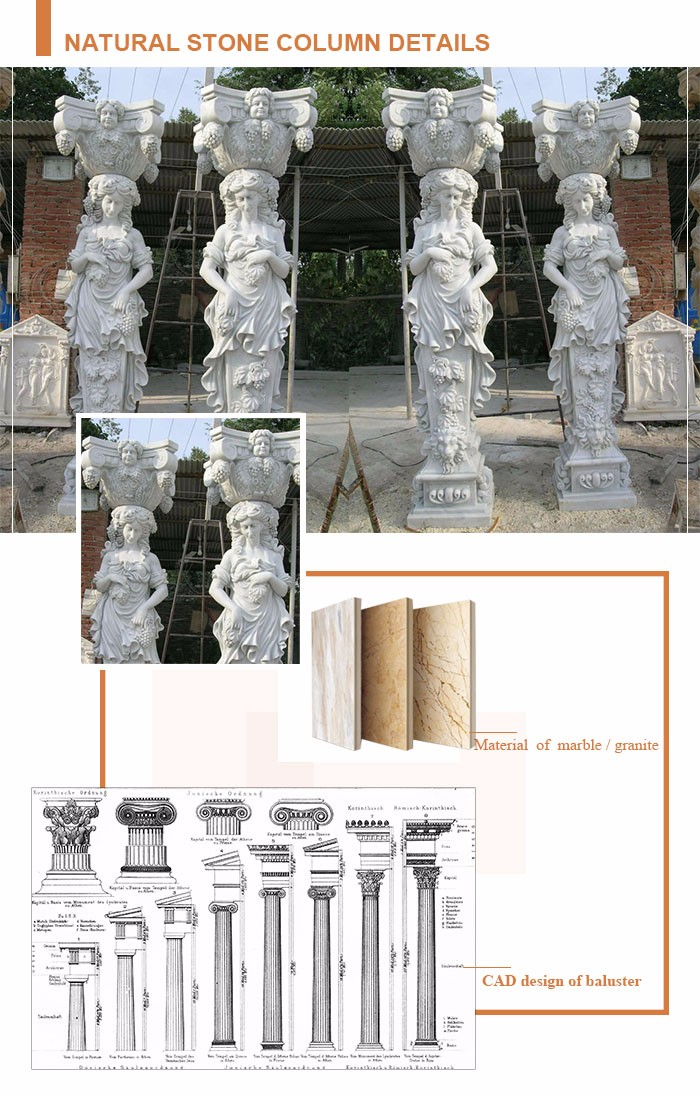 Classical Acid Proof Stone Statue Pillar
